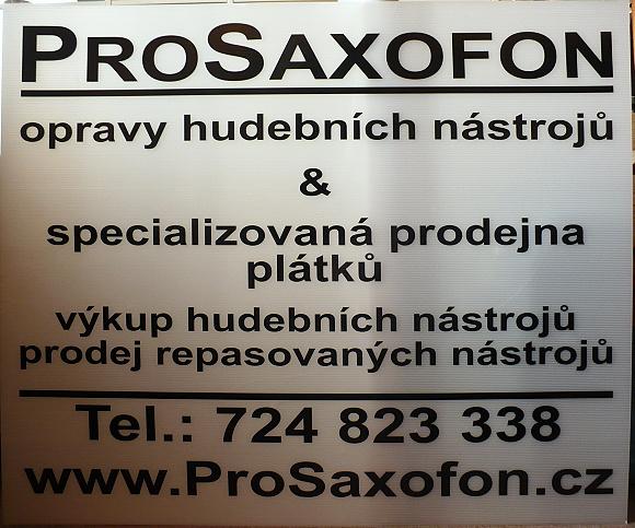 Reklamní tabule proSaxofon.cz